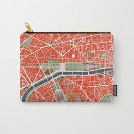 Paris city map classic Carry-All Pouch