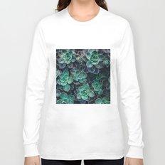 Succulent Blue Green Plants Long Sleeve T-shirt