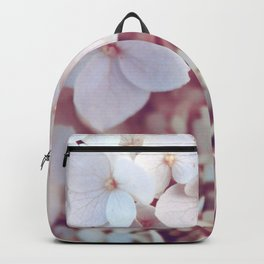 Pink and White Flowers (Color) Backpack