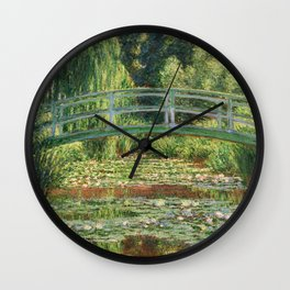 Bridge over a Pond of Water Lilies - Monet Wall Clock
