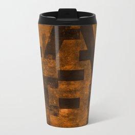 Lager Beer Typography Metal Travel Mug