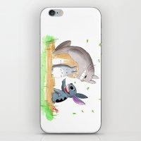 ohana iPhone & iPod Skins featuring Ohana Means Family by Avedon Arcade