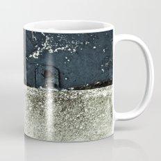 White Blue Concrete Mug