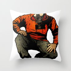 Trouble May Rise Throw Pillow