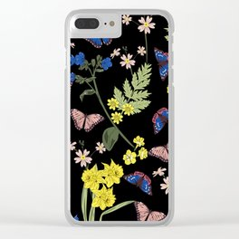 Botanical floral print Clear iPhone Case