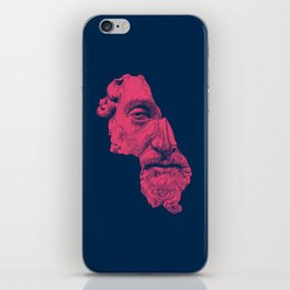 MARCUS AURELIUS ANTONINUS AUGUSTUS / prussian blue / vivid red iPhone Skin