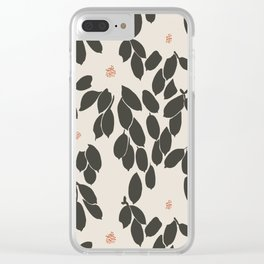 Zooey Magnolia Clear iPhone Case