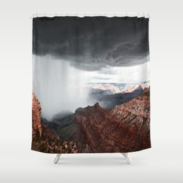 a storm in the grand canyon Shower Curtain