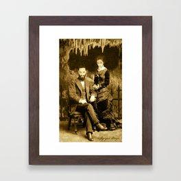 Dark Victorian Portrait Series: Hades and Persephone Framed Art Print