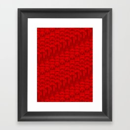 Video Game Controllers - Red Framed Art Print