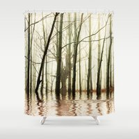ghost Shower Curtains featuring GHOST TREES by Catspaws