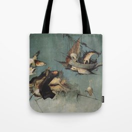 Hieronymus Bosch flying ships and creatures Tote Bag