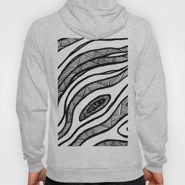 Organic Black & White lines Hoody