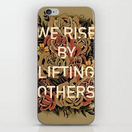We Rise iPhone Skin