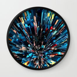 Three Dimensional Color Stacks Wall Clock