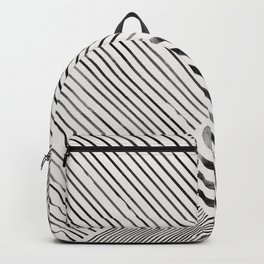 Black and White Stripes, Abstract Backpack