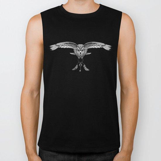 The owl is dreaming Biker Tank