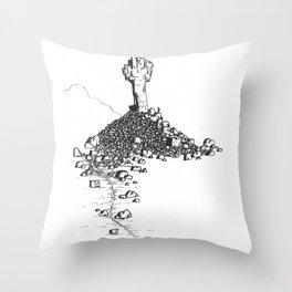Rock Cross Throw Pillow