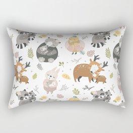 Cuddling animals Rectangular Pillow