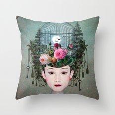 Moonlight Garden Throw Pillow
