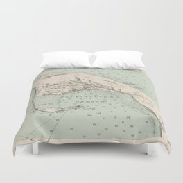 Vintage Map of Provincetown MA (1892) Duvet Cover