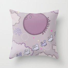 Float Atoms Throw Pillow