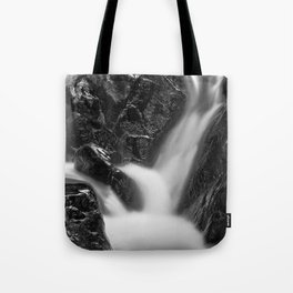 Shelving Rock Stream - Black & White Tote Bag