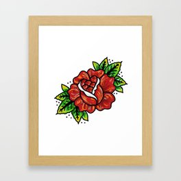 Traditional Rose Framed Art Print