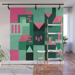 Green Klee houses Wall Mural