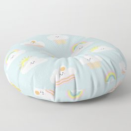 Happy Clouds Floor Pillow