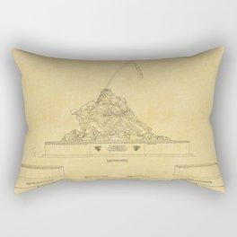 Marine Corps Memorial Rectangular Pillow