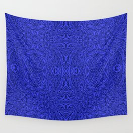Stare into the Deep Blue Void Abstract Pattern Wall Tapestry