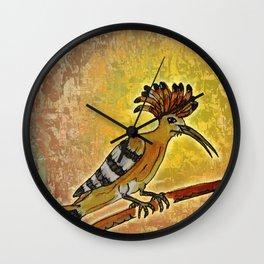 Hoopoe 2 / Nature Wall Clock