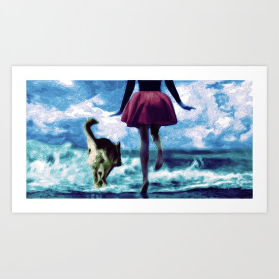 Race to the Sea Art Print