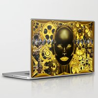 android Laptop & iPad Skins featuring Android Clockwork by Magmata