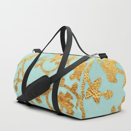 Golden Damask pattern Duffle Bag