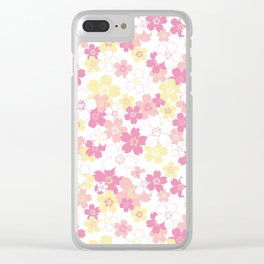 Cherry Blossom-pink Clear iPhone Case