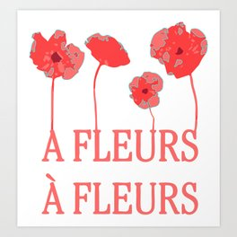A fleur a fleur Art Print