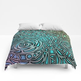 How the river flows - Zentangle Art Comforters