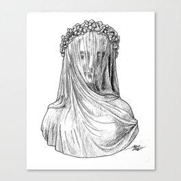 Veiled Lady Canvas Print