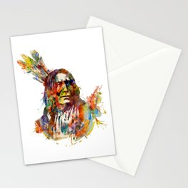 Chief Mojo Watercolor Stationery Cards