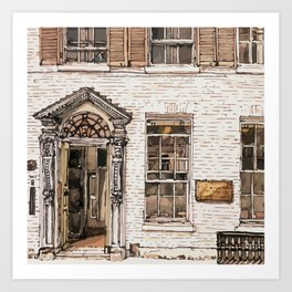 SOLICITORS, Kings Parade, Cambridge, UK Art Print