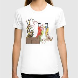 Japanese Garden Geisha Girls T-shirt