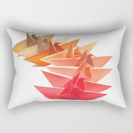 Cranes on Fire Rectangular Pillow