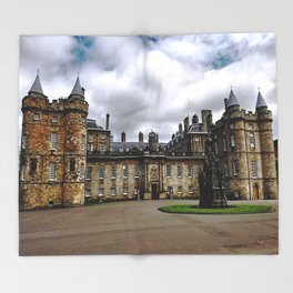 Holyrood Palace - Edinburgh United, Kingdom - Scotland Throw Blanket