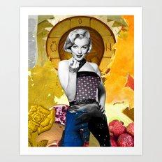Golden Marilyn Monroe  By Zabu Stewart Art Print