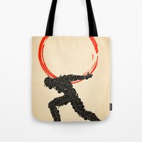atlas Tote Bags featuring Atlas by Dave Razor Compton Wolff