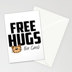 Free Hugs for Cats Stationery Cards