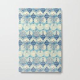 lotus diamond blue Metal Print