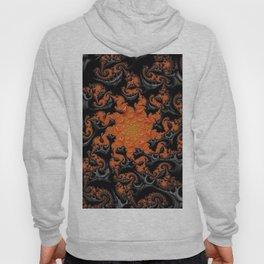 Orange Zest - Fractal - Halloween - Manafold Art Hoody